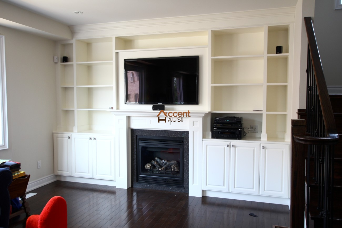 Wall Entertainment Units Library Office Millwork Accent Haus
