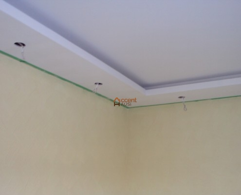 Tray ceiling installed in a family room Nobelton