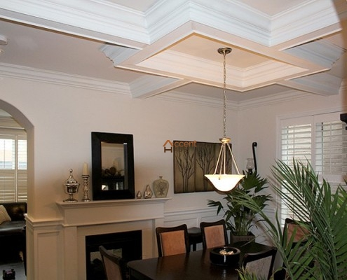 Modern ceiling designed for a dining room