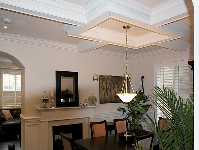 Coffered waffle ceiling beams ideas cost and pictures for Coffered cathedral ceiling