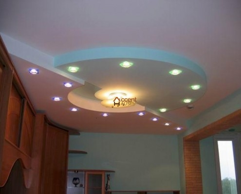 Oval ceiling style with LED lighting
