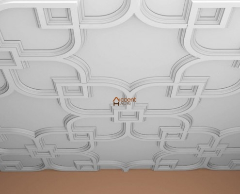 Flat paneled ceiling designed for a home in Hamilton