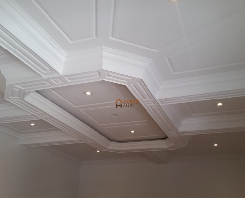 Circle ceiling installed with potlights for a modern home