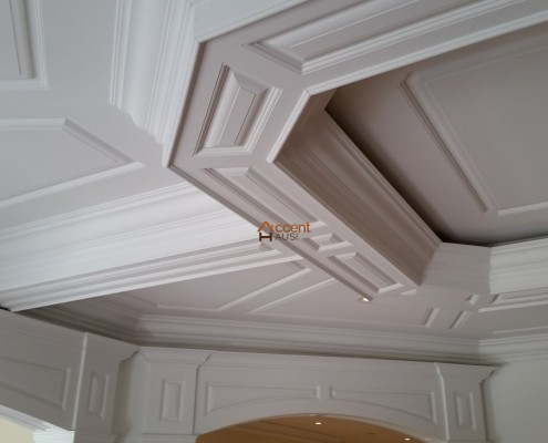 Octagon ceiling installed for a family room