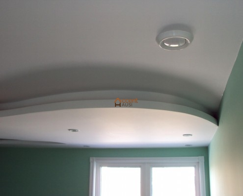 White shaded circle ceiling installed for a home Newmarket