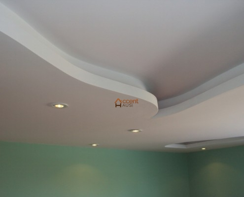 Curved paneled coffered ceiling