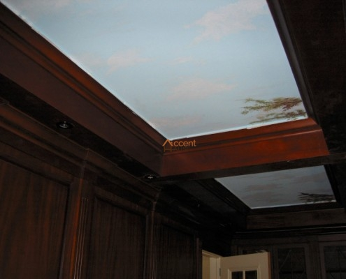 Wooden beamed ceiling style