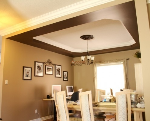 Bulkhead ceiling with decorative lighting for house Burlington