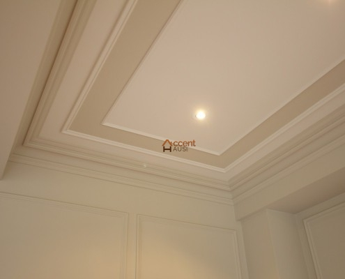 Classic tray ceiling for a living room