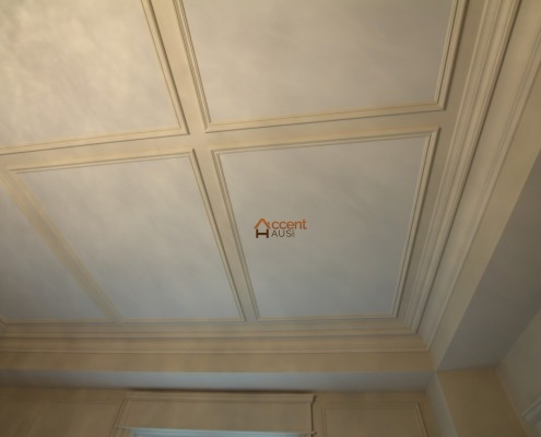 Flat paneled ceiling style for contemporary home