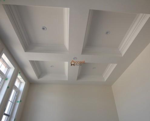Box patterned rectangular ceiling