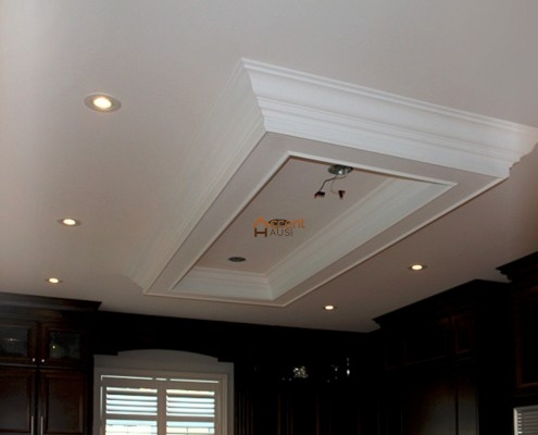 White shaded tray ceiling style