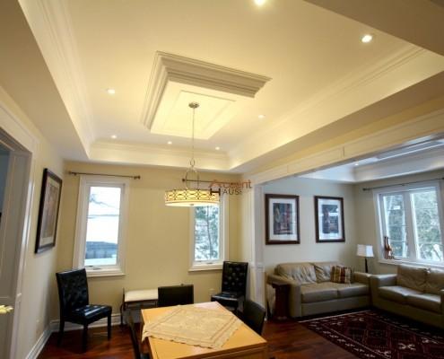 Modern bulkhead ceiling designed in a home