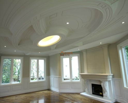 Arched paneled circle ceiling