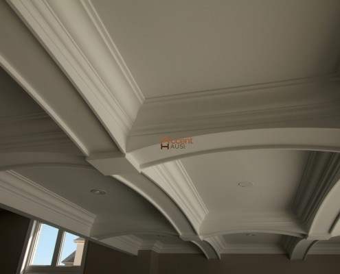 Coffered ceiling decorated in a home Toronto