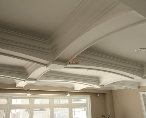 Four paneled arched ceiling