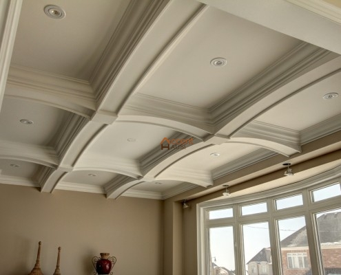 Classic beams ceiling installed for a home Whitchurch
