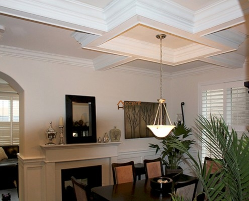 Box patterned waffle ceiling