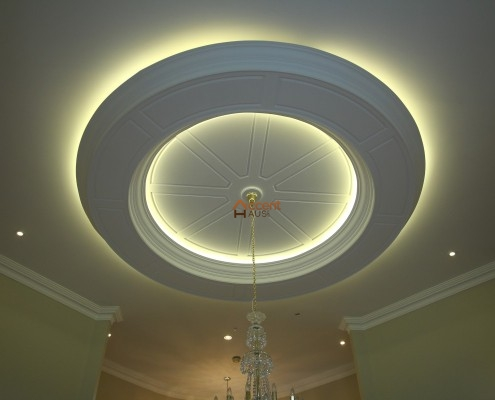 Classic oval ceiling decorated in a living room