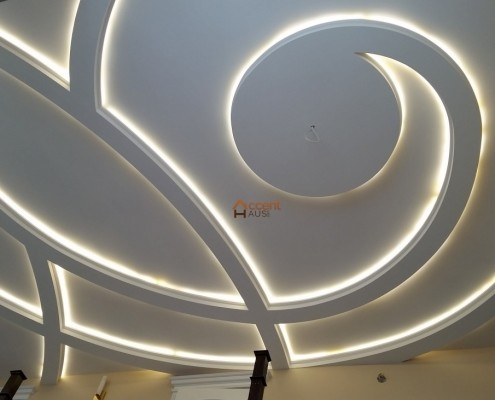 Curved patterned ceiling style