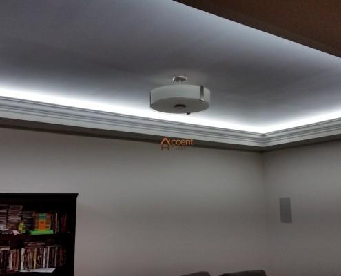 Light cove ceiling for a living room