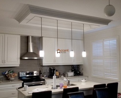 Kitchen Ceiling Box with pendant lights